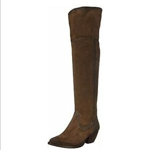 Brown Frye Over the Knee Boots